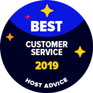 HS services - Best Customer Service 2019 Award from HostAdvice