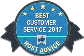HS services - Best Customer Service 2017 Award from HostAdvice