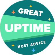 HostAdvice Great Uptime Award for HS services