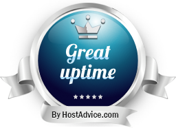 HostAdvice Great Uptime Award for HS services
