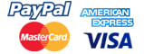 PayPal is our payment gateway, secure payments by PayPal, MasterCard, Visa, American Express